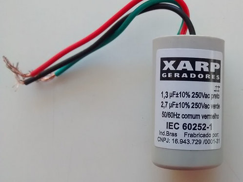Capacitor de motor 13uf X 27uf x 250vac IEC 602521  marca Xarp