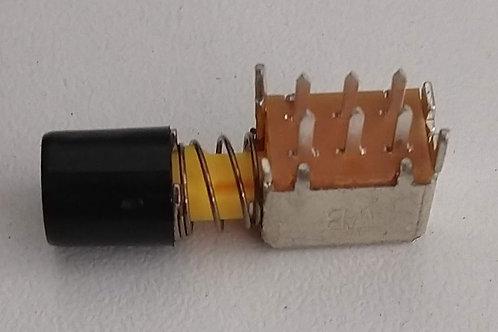 Chave tecla  6 terminal c trava knob preta