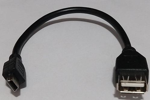 Cabo USB Mini 5 Pinos X USB a femea  27cm  020083