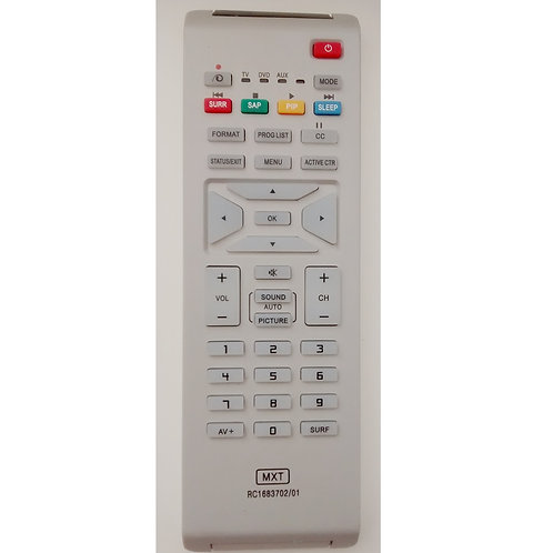 Controle remoto TV LCD  Led Philips RC168370201  Modelos 21PT9467