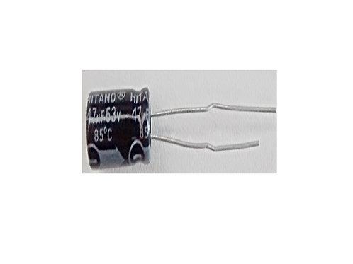 Capacitor Eletrolitico 47uf X 63V TECH 3X11  105