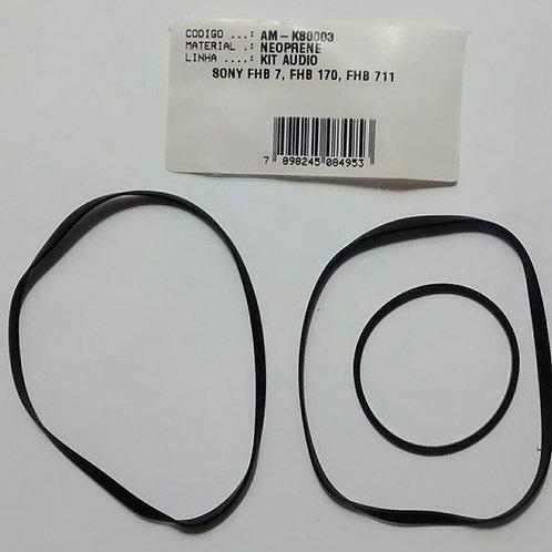 Kit correia Som SONY FHB 7 FHB 170  FHB 711  e outros modelos  K80003 Com 05 Pc