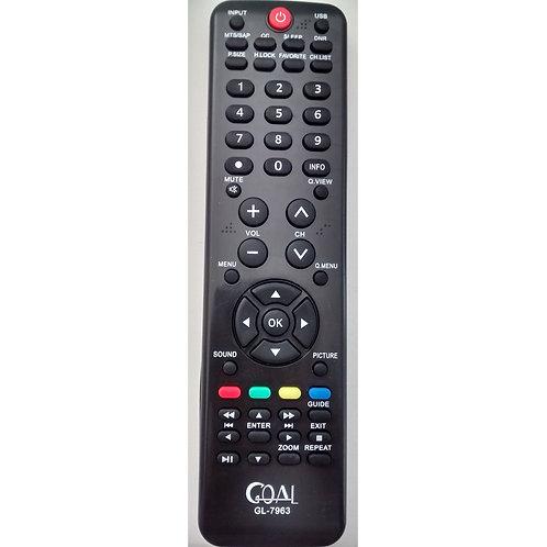 Controle Remoto TV HBuster GL7963  Modelos HBTV 22DO2JD  Hbtv3203hd