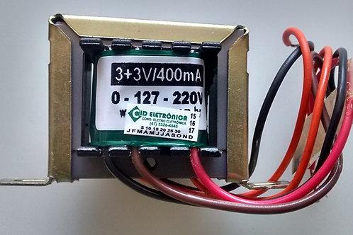 Transformador Forca  33V 400mA 110  220V AC  Marca Gilson