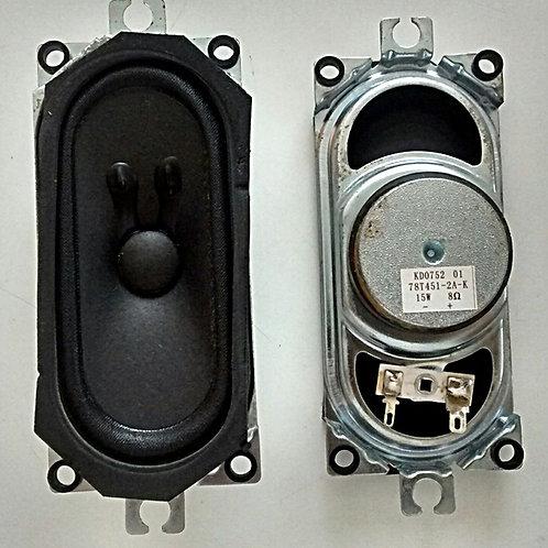 Alto falante TV 32 AOC L32W431 15W  8 ohms  codigo 78T4512AK  KD0752 par