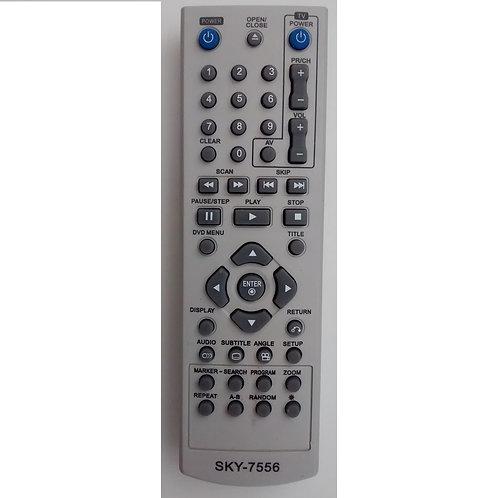 Controle Remoto DVD LG SKY7556 MODLG 671  DP132  288  457  9311  DP122  DK140