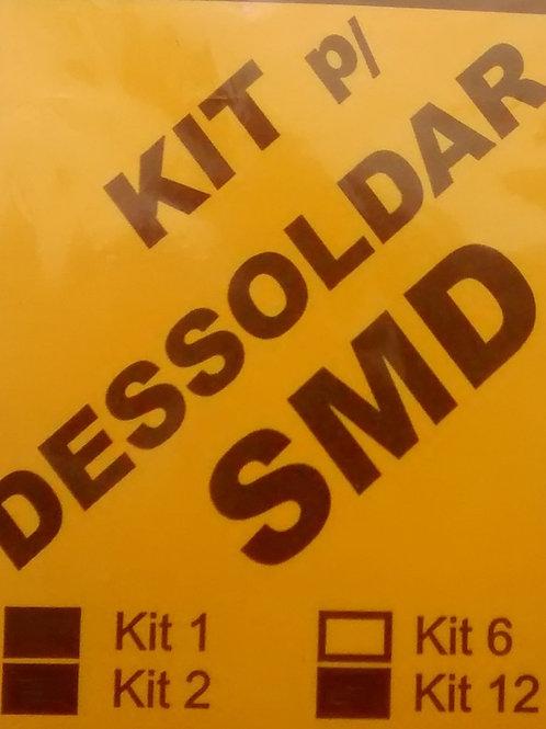 Kit de soldagem SMD com 06 barras malhas solda