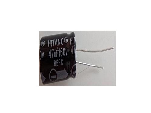 Capacitor Eletrolitico 47UF x 160V  85  13 X 21