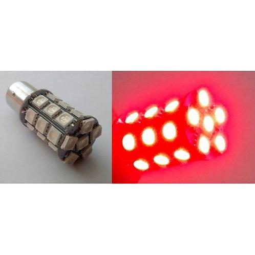 Lampada vermelha em SMD com 27 leds para freio de carro 12V