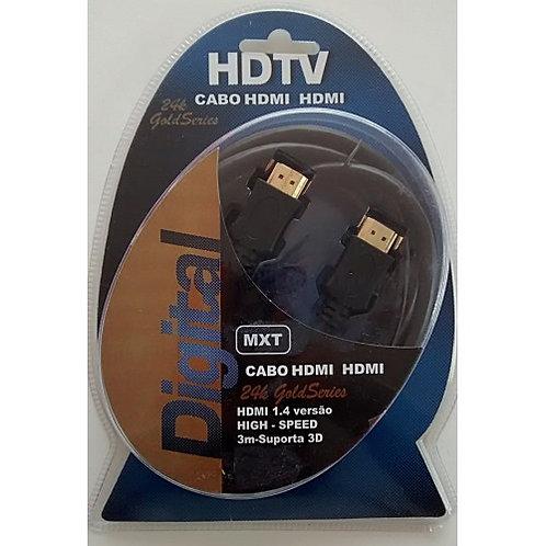 Cabo HDMI X HDMI 14 com Ferrite  3m Digital