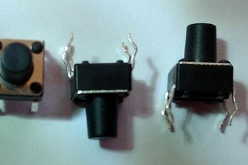 Chave de toque  touch 6x6mn quadrada   corpo 8mm com 4 terminal  eixo 5mm