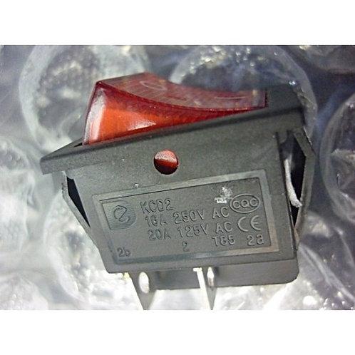 Chave gangorra OnOff  KCD4  led vermelho liga  desliga16A 250V