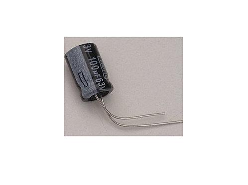 Capacitor eletrolitico 100uf x 63V Hitano 16x32  105