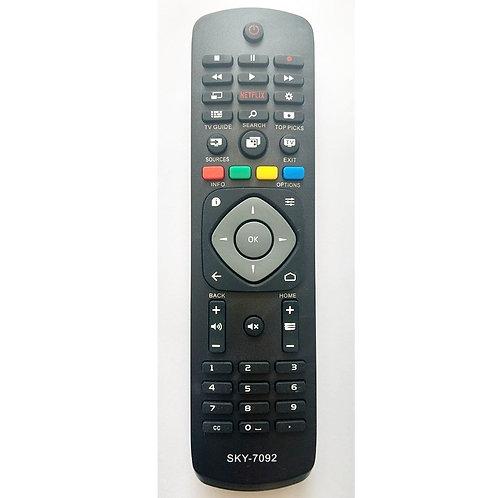 Controle remoto TV Philips Smart Netflix  Sky7092