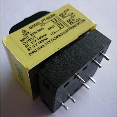 Transformador placa painel microondas  Ent220V  Saida 11 e 7 V Mod Eletrolux