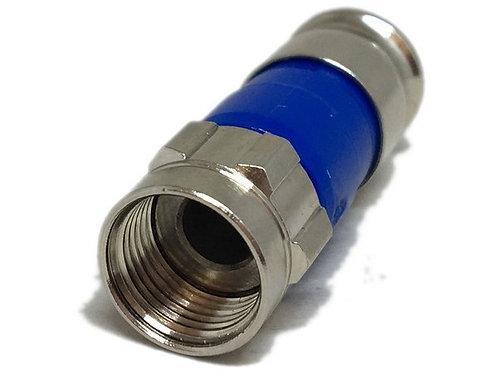 Conector prata com anel P, Azul F RGE-06 Compressao para cabo