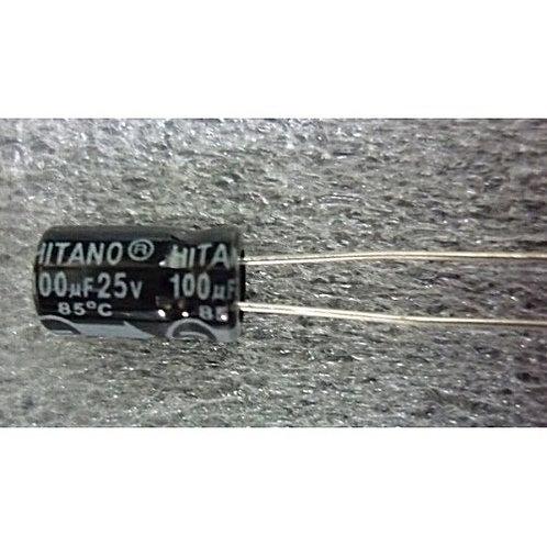 Capacitor Eletrolitico 100UF x 25V  85