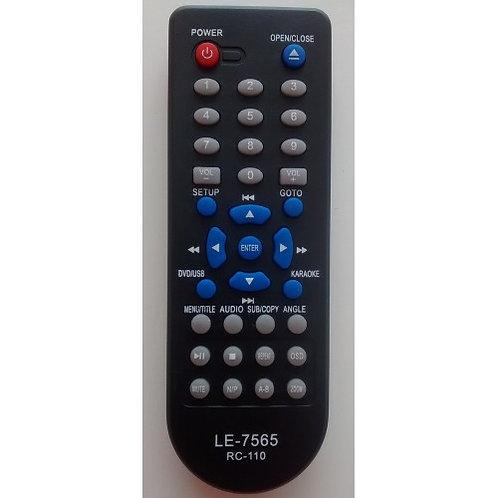 Controle remoto DVD Inovox LE7565  RC110