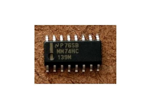 Circuito integrado MM74HC139M SMD 16 pinos original