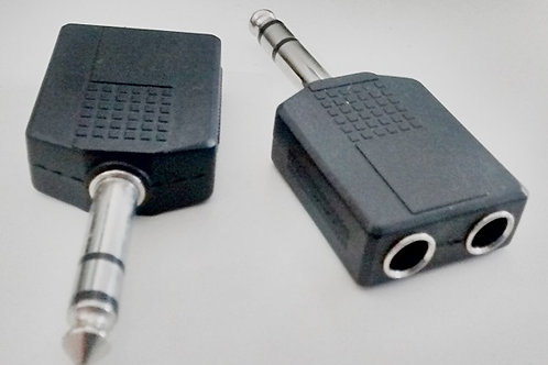 Adaptador 2 jack P10 sterep  P10 stereo
