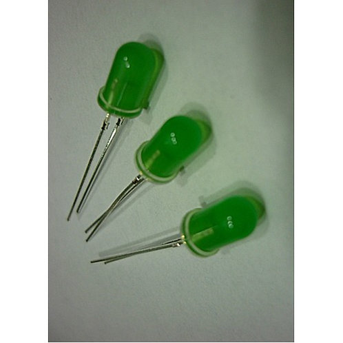 Led Diodo 5mm decorativo verde Difuso