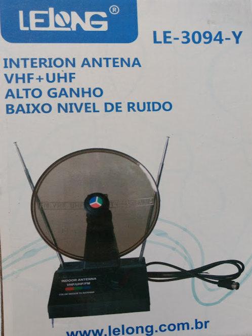 Antena interna para TV VHFUHF HBTV e FM com cabo coaxial 75 Ohms HDE30