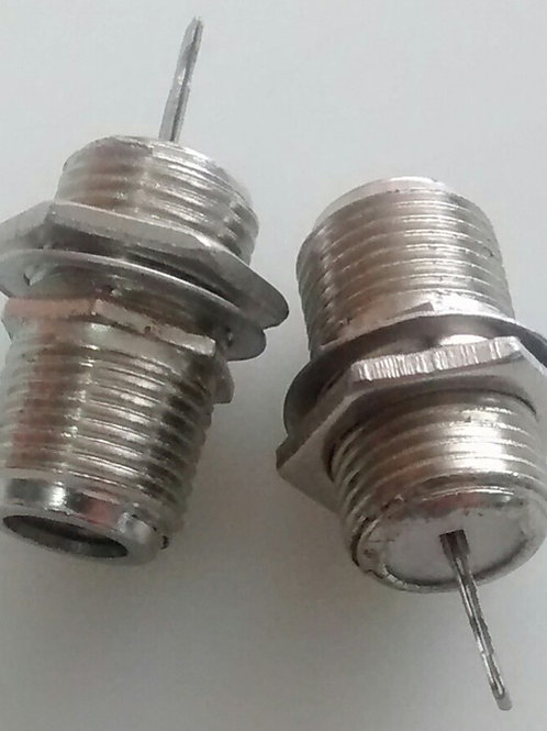Conector F femea para chassis