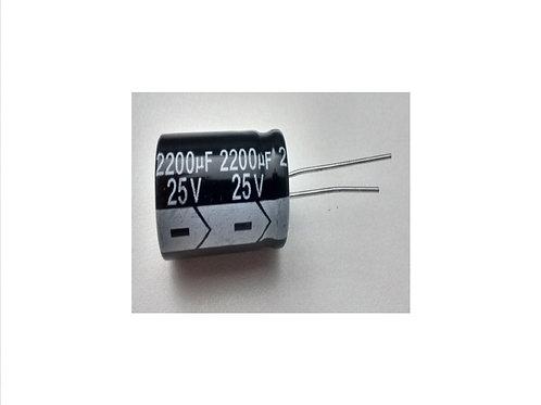 Capacitor Eletrolitico 2200uf x 25V  105  16x25 marca Tech