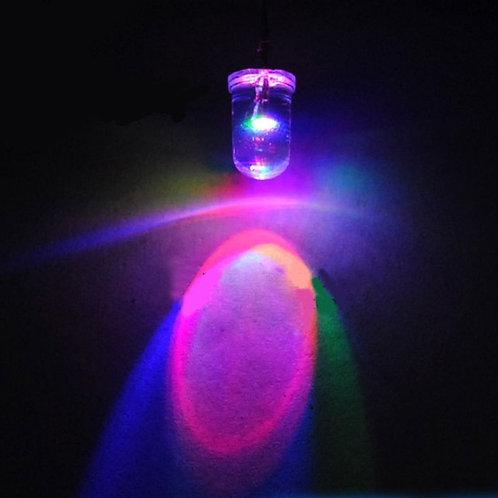 LED Diodo Piscando Rapido Multicolor Vermelho Verde azul 7 Cores Mudando 5mm