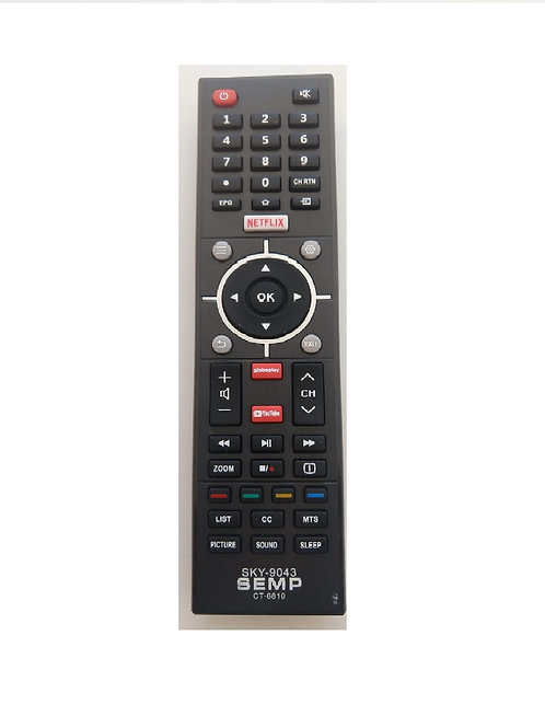 Controle Remoto TV Semp Ct6810 / L32s3900S Nefflix / YOUTUBE / GLOBOPLAY Sky-904