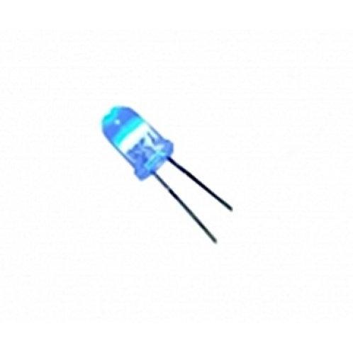 Led Diodo 5mm  12V decoratiov Azul 5500MCD