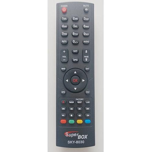 Controle remoto Receptor Digital Super Box Benzo HD cod Sky 8030