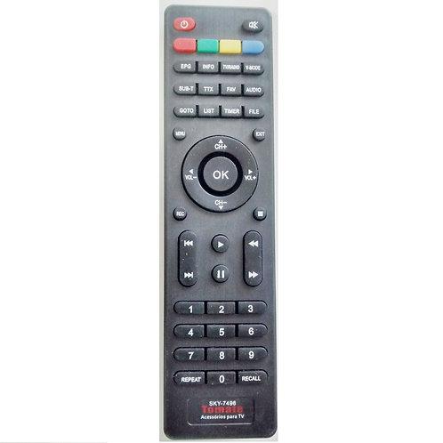 Controle remoto receptor digital Tomate SKY7496