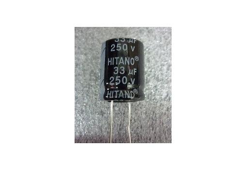Capacitor Eletrolitico 33UF X 250V  105