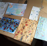 marbling experiments at the Penwortham C