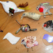 Recycled media birds, Danielle Chappell,