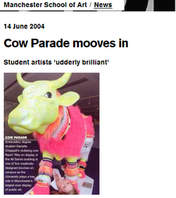'Ravin Rita', Manchester Cow Parade, Dan