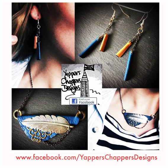 Yappers Chappers Designs Leather earring
