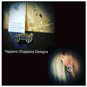 Yappers Chappers Designs peace sign stud