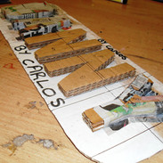 recycled media name plate, Danielle Chap