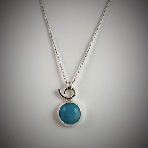 Small Sterling Amazonite Necklace