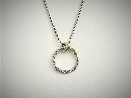 Sterling Small Circle Necklace