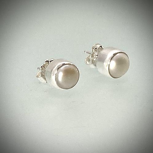 Sterling Freshwater Pearl Post Earrings