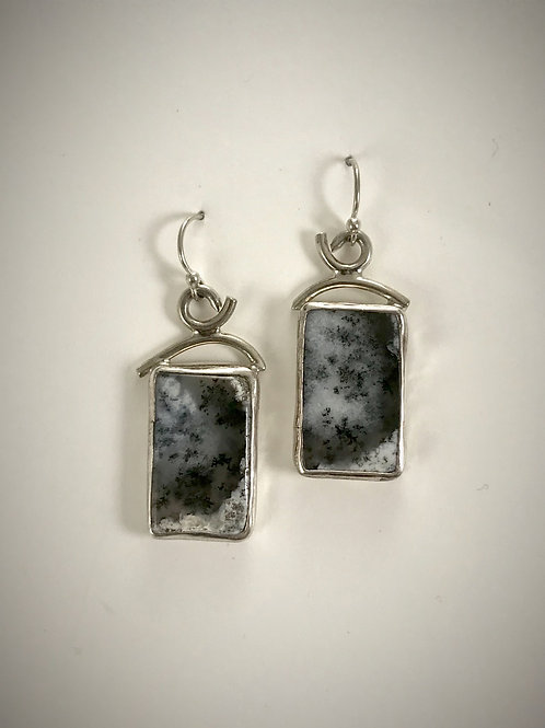 Sterling and Dendritic Agate Earrings