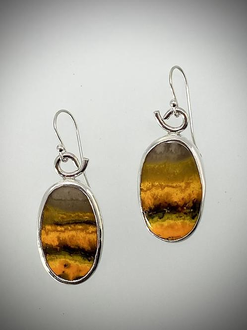 Sterling Bumblebee Jasper Earrings