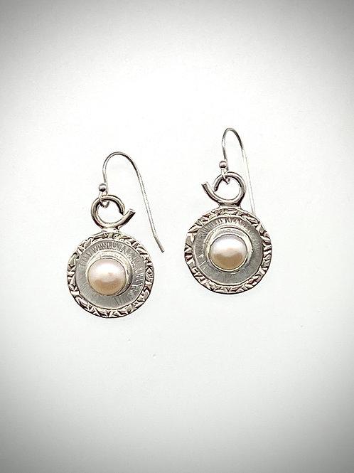 Sterling Freshwater Pearl Frame Earrings