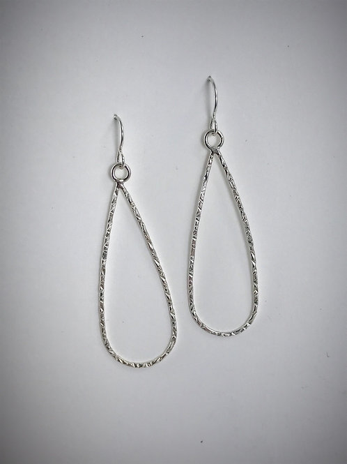Large Sterling Teardrop Earrings