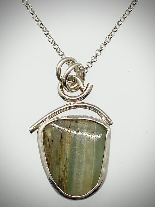 Sterling and Blue Calcite Necklace