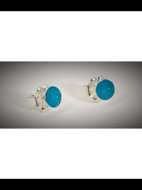 Sterling Small Turquoise Resin Post Earrings