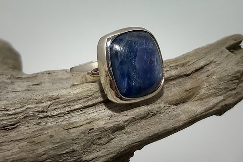 Sterling and Square Kyanite Ring